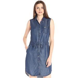 Tommy Hilfiger tencel denim shirt dress Size 10